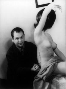 FOTO MANZONI Scultura vivente 1961