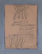 41 AGOSTINO FERRARI Milano 09/11/1938 Senza titolo, (anni '60) tecnica mista su carta intelata 64x50 cm, firma in basso a destra, opera registrata presso l'archivio Agostino Ferrari come da dichiarazione su foto. base d'asta: 1.000 € stima: 3.000/4.000 €