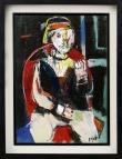 316 GUIDO PAJETTA Monza (MI) 08/02/1898 - Milano 15/02/1987 Figura in poltrona, 1974 acrilico su tela 70x50 cm, firma in basso a destra, opera registrata presso l'Archivio Guido Pajetta a cura del figlio Giorgio come da dichiarazione su foto. base d'asta: 1.000 € stima: 2.000/3.000 €