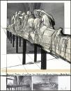 """242 CHRISTO Gabrovo (Bulgaria) 13/06/1935 Wrapped statues, 1988 litografia e collage su carta 91x68,5 cm; esemplare 63/300, firma in basso a destra, entro teca in plexiglass. Bibliografia: -""""Christo and Jeanne-Claude, Prints and objects"""", repertorio n° 135, pagina 180. base d'asta: 1.500 € stima: 3.000/4.000 €"""