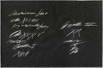 236 CY TWOMBLY Lexington (Usa) 25/04/1928 - Roma 05/07/2011 Senza titolo serigrafia su carta 39,5x59,5 cm, esemplare E.H. 3/7, firma in basso a destra, tiratura in basso a sinistra. base d'asta: 1.500 € stima: 3.000/4.000 €