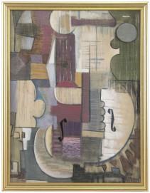 9-GUGLIELMO PEIRCE [Napoli 20/04/1909 - Roma 24/11/1958]Composizioneolio su tela applicata su tavola 79,5x61 cm, firma in basso a destra.base d'asta: 500 €stima: 3.000/4.000 €. In asta il 26 giugno (asta 2675)
