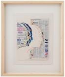 2682-7settembre- 54-MARIO CEROLI [Castelfrentano 1938] Senza titolo tecnica mista e collage su cartone 36x28 cm, firma in basso al centro, dichiarazione d'autenticità dell'artista su foto. base d'asta: 500 € stima: 1.500/2.000 €