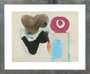 2682-7 settembre- 71 CLAUDIO CINTOLI [Imola 15/12/1935 - Roma 28/03/1978] Senza titolo, 1963 tecnica mista su carta 21x27,5 cm, sigla dell'artista e anno in basso a sinistra, dichiarazione di provenienza della collezione Vittorio Cintoli al retro, dichiarazione d'autenticità del fratello Vittorio su foto. senza riserva stima: 1.000/2.000 €