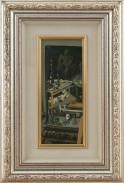 2682-8 settembre---103 GIANCARLO OSSOLA [Milano 1935 - Milano 05/04/2015] Specchio, 1992 olio su tela 38x15,5 cm, firma, titolo e anno al retro, dichiarazione d'autenticità dell'artista su foto. senza riserva stima: 1.000/2.000 €
