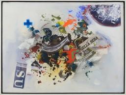 13 GIUSEPPE BIASIO [Padova 1928] Prima della sera, 2016 tecnica mista e collage su tela 59x79 cm, firma, titolo e anno al retro, dichiarazione d'autenticità dell'artista su foto. base d'asta: 1.000 € stima: 2.000/3.000 €