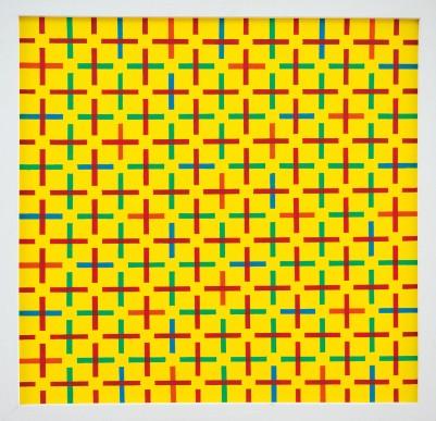 245 ANGELO DOZIO [Merate 1941] Labirinto, 1988 acrilico su tela 80x80 cm, firma, titolo e anno al retro, dichiarazione d'autenticità dell'artista su foto. base d'asta: 2.000 € stima: 4.000/4.800 €
