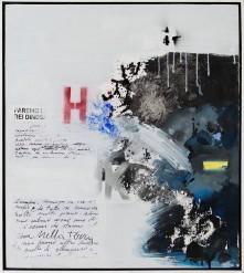 110 GIUSEPPE BIASIO [Padova 1928] Movimento delle cose, 2017 tecnica mista e collage su tela 70x65 cm, firma, titolo e anno al retro, dichiarazione d'autenticità dell'artista su foto. base d'asta: 1.000 € stima: 2.000/3.000 €