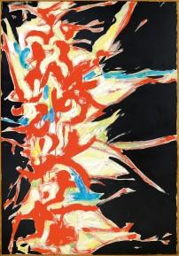 250 ANGELO SAVELLI [Pizzo Calabro (CZ) 1911 - Boldeniga di Dello(BS) 1995] Pittura n. 31, 1957/58 olio su tela 150x100 cm, firma in basso a sinistra, etichette della Galleria d'Arte Del Naviglio (MI) e della Galleria l'Elefante Arte Contemporanea al retro, certificato d'autenticità di Orler Gallerie d'Arte (Favaro V.to-VE) allegato. base d'asta: 12.000 € stima: 21.000/24.000 €