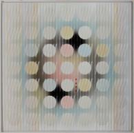 7-CARLO NANGERONI [New York (U.S.A.) 24/06/1922 - 13/03/2018]Monocentrico, 1992olio su tela 61x61 cm, firma, titolo e anno al retro.base d'asta: 1.000 €stima: 2.000/3.000 €