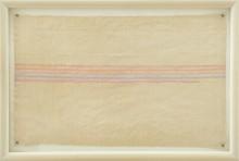 62 GIORGIO GRIFFA [Torino 29/03/1936] Orizzontale, 1973 acrilico su tela 43x71 cm, firma e anno al retro, opera registrata presso l'Archivio Giorgio Griffa come da certificato allegato. Bibliografia: -Giorgio Griffa, pittura analitica, ricerca anni settanta, a cura di Luca Beatrice, Galleria RESPUBBLICA, 30 ottobre - 29 novembre 2015. base d'asta: 4.000 € stima: 8.000/9.000 €