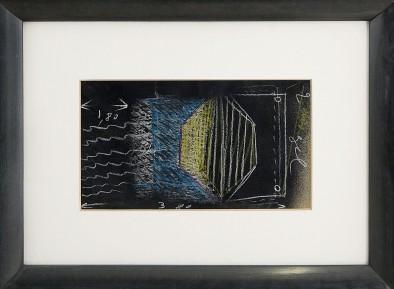 231 MARIO MERZ [Milano 1925 - 09/11/2003] Senza titolo tecnica mista e collage su cartoncino 22,5x38,5 cm, opera non firmata, registrata presso l'Archivio Mario Merz (TO) come da dichiarazione su foto. base d'asta: 8.000 € stima: 14.000/16.000 €