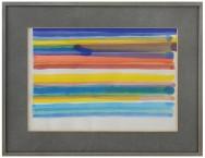 4-PIERO DORAZIO [Roma 28/06/1927 - Todi 17/05/2005]Senza titolo, 1970acquerello su carta 25x35 cm, firma e anno in basso a destra.base d'asta: 1.000 €stima: 2.000/3.000 €