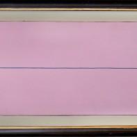 96- MARIO NIGRO [Pistoia 28/06/1917 - Livorno 11/08/1992] L'orizzonte del mare dopo il tramonto, 1970 olio su tela 38x100 cm, firma e titolo al retro, certificato di autenticità della Galleria Vimarte Brescia allegato. base d'asta: 5.000 € stima: 9.000/10.000 €