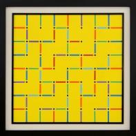 13- ANGELO DOZIO [Merate 1941] Labirinto (solo amore), 1988 acrilico su tela 80x80 cm, firma, titolo e anno al retro, certificazione d'autenticità dell'artista su foto. base d'asta: 1.000 € stima: 3.000/3.500 €