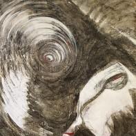 64- RENATA BOERO [Genova 21/12/1936] Blu di legno, 1985 tecnica mista su tela 190x170x3 cm, firma, titolo e anno al retro, opera priva di cornice. base d'asta: 2.000 € stima: 4.000/5.000 €