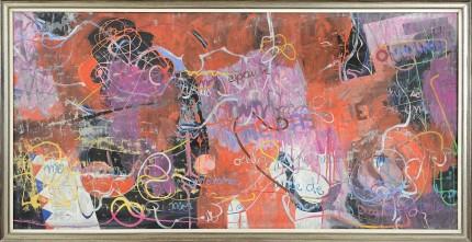JACQUES GABRIEL [ 1934 - 1988] Ma memoire... tecnica mista su tela 96x196 cm, firma e titolo al retro. base d'asta: 2.500 € stima: 5.000/6.000 €